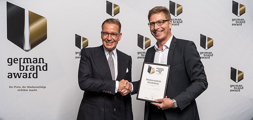 Neuer Markenauftritt Von Glaabsbräu Mit Dem German Brand Award 2018 Ausgezeichnet