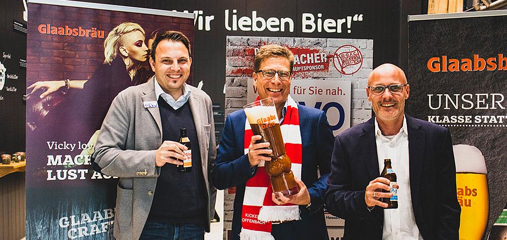Glaabsbräu Wird Bierpartner Des Sparda-Bank-Hessen-Stadions Und Premiumpartner Des OFC