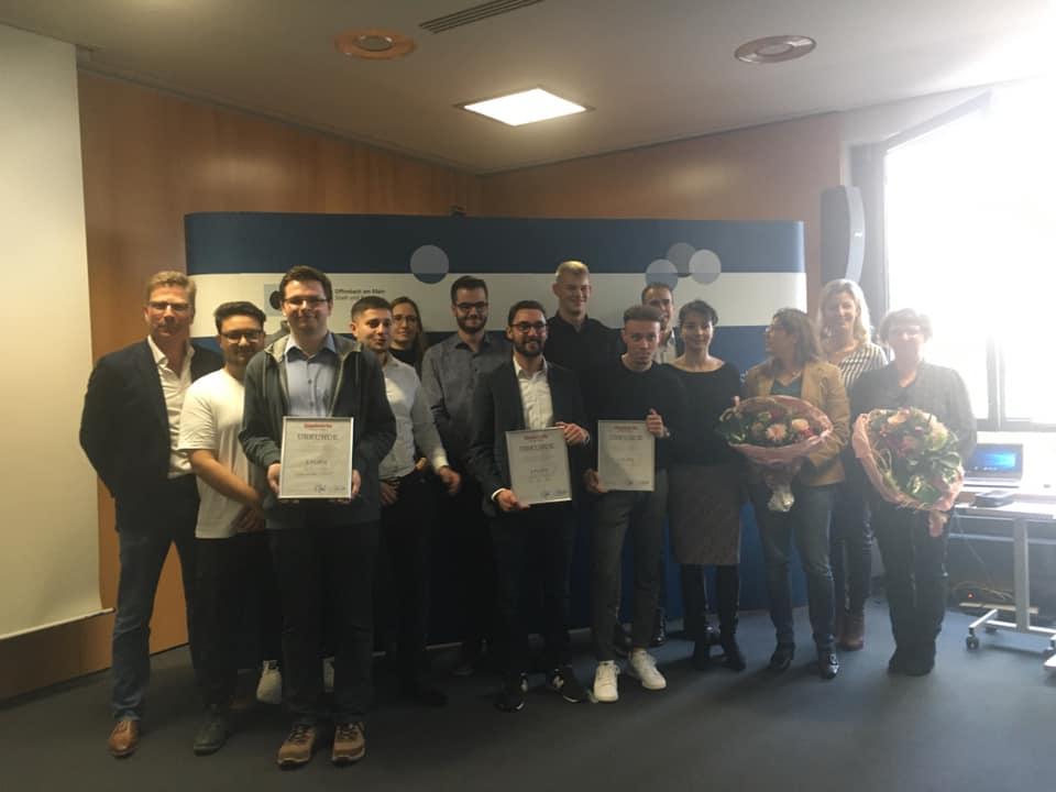 Prämierung Der Schüler Der Theodor-Heuss-Fachoberschule Offenbach Für Glaabsbräu-Marketing-Wettbewerb